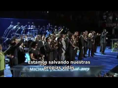 Memorial a Michael Jackson - We are the world & Heal the world (Subtitulado español)