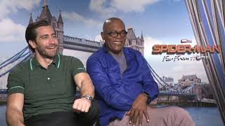 Jake Gyllenhaal & Sam Jackson Raw Interview Spider-Man: Far From Home