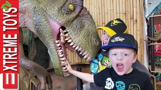 Return to the Dinosaurs! Crazy Dino Museum and Inside a Giant T-Rex Mouth