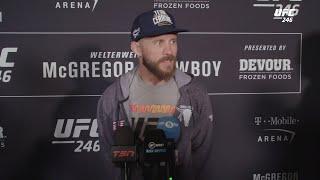 Cowboy Cerrone's tense media scrum after UFC 246 weigh ins