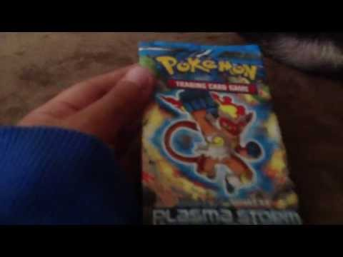 Opening a Plazma Storm booster pack(AMAZING pull!!!!)