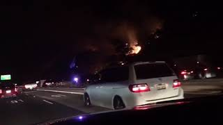 Fire on the 91 Freeway 9-25-2017