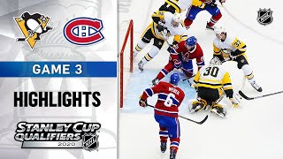 NHL Highlights   Penguins @ Canadiens, GM3 - Aug. 5, 2020