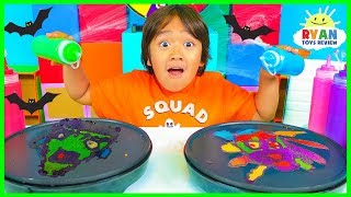 Pancake Art Challenge Mystery Wheel Halloween Edition!!