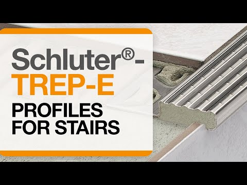 How to install tile edge trim on stairs: Schluter®-TREP-E
