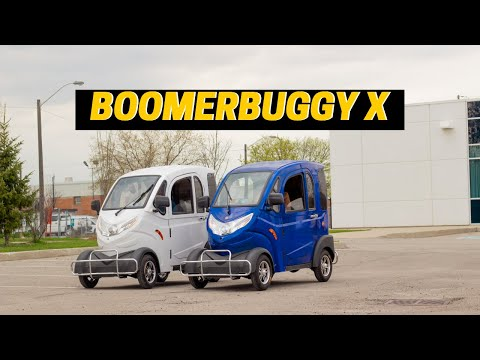 Daymak Boomerbuggy X   The first solar powered, fully enclosed mobility scooter.