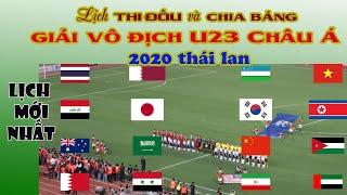Lịch Thi Đấu và chia bảng giải U23 châu Á 2020 Thái Lan