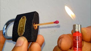 Way To Open A Lock  With Matches🔴 Mở khóa bằng diêm