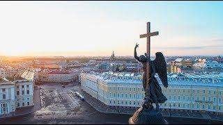 Санкт-Петербург с высоты. Белые ночи, разводные мосты, Нева...