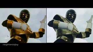 Power Rangers Zeo Gold Ranger and Pyramidus First Appearance Split Screen (PR and Sentai version)