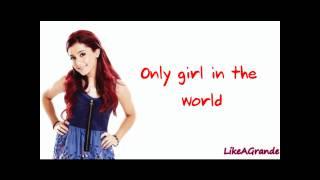 Ariana Grande - Only Girl In The World (LYRICS ON SCREEN)