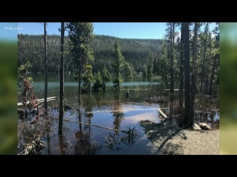 Stanley Lake inlet underwater after earthquake
