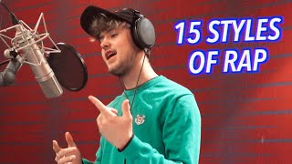 15 Styles of Rapping! (ft. Drake, Pop Smoke, NF, Roddy Ricch, Lil Uzi)