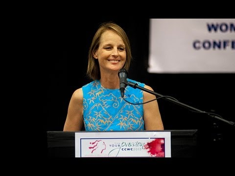 Helen Hunt Gets Personal During Women's Conference - YouTube