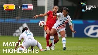 Spain v. USA - FIFA U-20 Women's World Cup France 2018 - Match 21