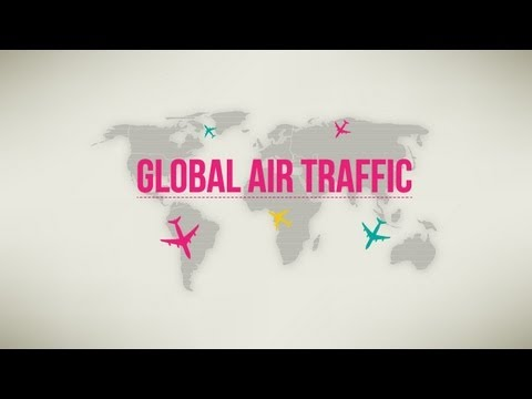 Global Air Traffic-Animated Infographic