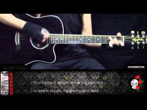 Como tocar El uno para el otro de Tercer cielo en guitarra tutorial