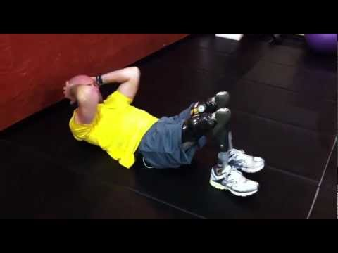 Heath Calhoun Bilateral Above Knee Amputee Workout - YouTube