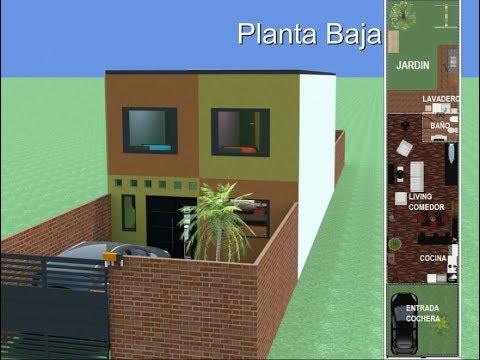 Casa de un piso lote 6x15 mts for Casa moderna minimalista 6 00 m x 12 50 m 220 m2