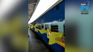 IPL 2018: Whistle Podu Express departs from Chennai..