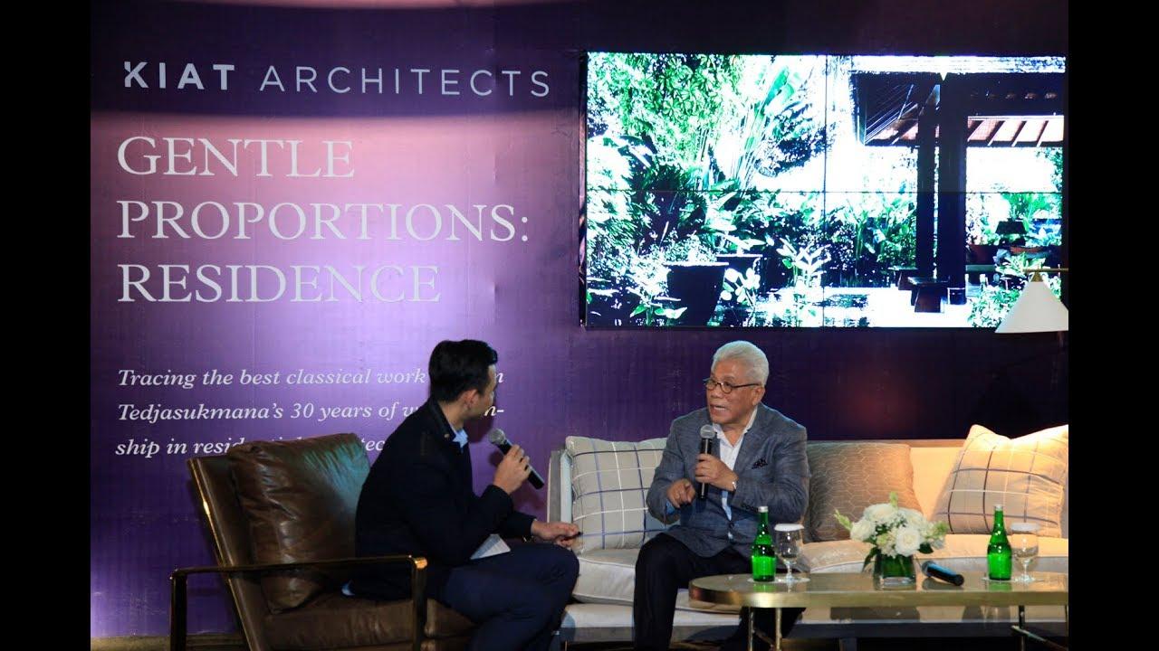 Peluncuran Buku Pertama dari Jasin Tedjasukmana / Kiat Architects berjudul Gentle Proportion: Residence
