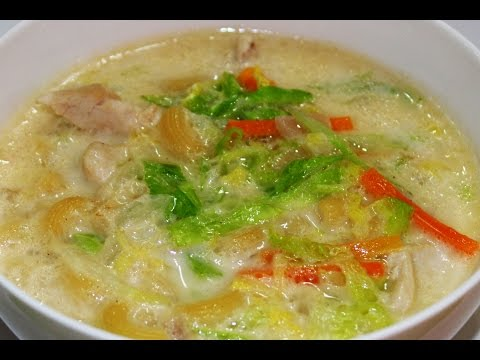 How to Cook Chicken Macaroni Soup Recipe - English