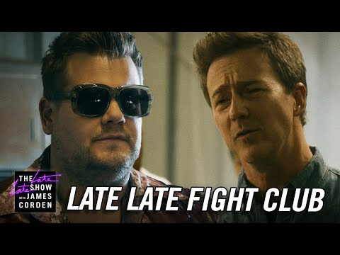 Edward Norton Ends James Corden's 'Fight Club'