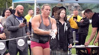World's Strongest Woman Donna Moore sets new record for Ardblair Stones Challenge in Scotland 2019