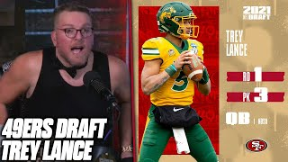 Pat McAfee Reacts To The 49ers Drafting Trey Lance
