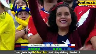 Loạt sút luân lưu cân não giữa Chile và Colombia| Tứ kết Copa America 2019 |