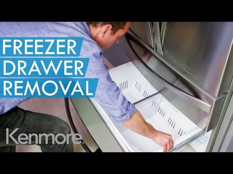 How to remove bottom freezer door