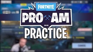 PRO AM PRACTICE - Fortnite Battle Royale Highlights (Jordan Fisher & StoneMountain64)
