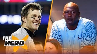 Brady vs Jordan - Colin weighs in on who is the greatest team athlete ever | THE HERD