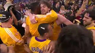 The Moment the Lakers Won the 2010 NBA Title, From an Angle You've Never Seen Before