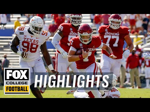Oklahoma stuns Texas in Red River Showdown 4OT instant classic, 53-45 | HIGHLIGHTS | CFB ON FOX
