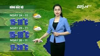 VTC14 | Thời tiết 12h 23/11/2017| Miền Bắc rét đậm, miền Trung lũ lên