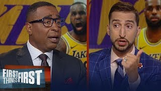 Frank Vogel dismisses rumors LeBron will play PG - Cris & Nick react | NBA | FIRST THINGS FIRST