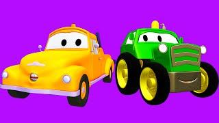 Tom La Grua Y La Super Patrulla Con Tractores Autos Y Camiones En