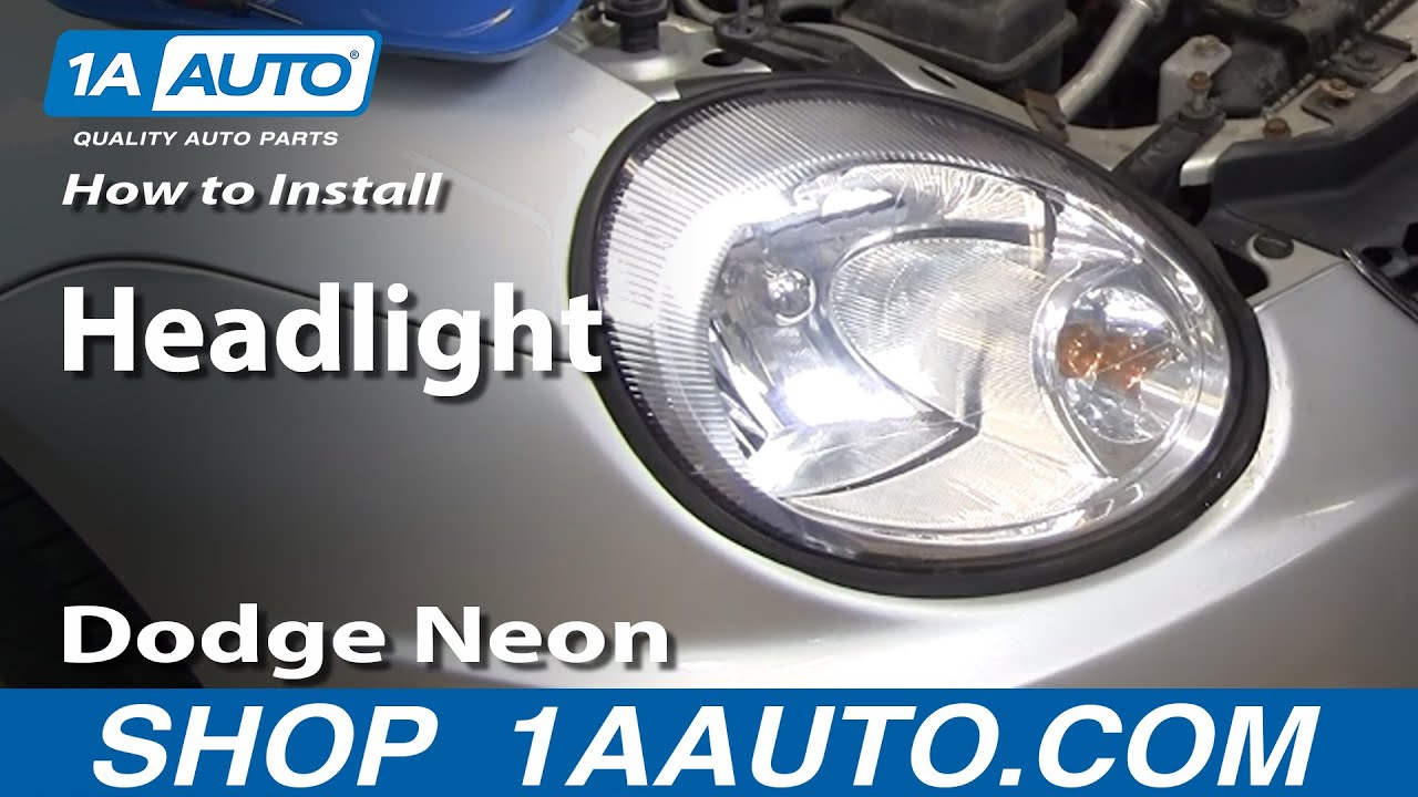 How To Install Replace Headlight Dodge Plymouth Neon 2003