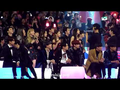[My Fav] 171201 MAMA - Super Junior Black Suit Reaction: EXO Taemin Red Velvet NCT127 Wanne One Got7