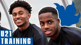 U21s Look Confident Ahead of Denmark Clash | Training | England U21 v Denmark