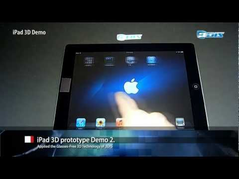 Real iPad 3D (V2), Glasses-Free 3D Display Technology by 3DIS
