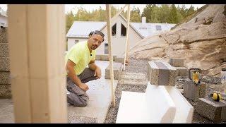 Björn bygger bo, attefall – Avsnitt 1 Gjutning och murning