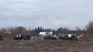 Crash involving MSP vehicle southbound I-75