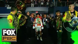 Watch Mikey Garcia's incredible ring entrance vs. Errol Spence Jr. | PBC ON FOX