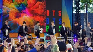 190515 Boy With Luv Soundcheck Rehearsal @ BTS 방탄소년단 Good Morning America GMA Summer Concert NYC