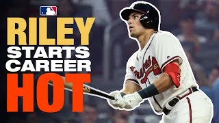 Riley smashes 2 home runs in his first week in the Majors