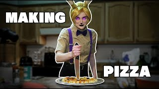 Glitchtrap attempts to make a classic Freddy's dish!