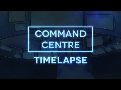 Illustrating The Command Centre - Project: Velyria Time-Lapse