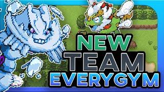 Can You Beat Pokemon Blazing Emerald With A New Team Every Gym ?! (No Items)
